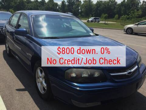 2004 Chevrolet Impala for sale at D & J AUTO EXCHANGE in Columbus IN