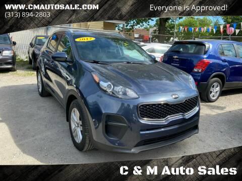 2017 Kia Sportage for sale at C & M Auto Sales in Detroit MI