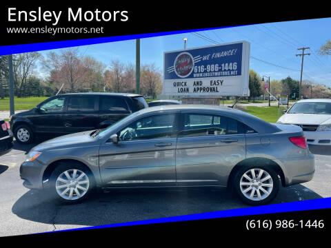 2013 Chrysler 200 for sale at Ensley Motors in Allendale MI