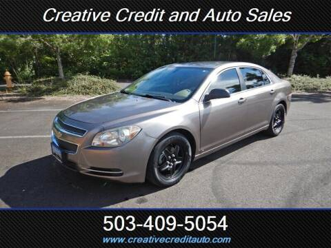 2010 Chevrolet Malibu for sale at Creative Credit & Auto Sales in Salem OR