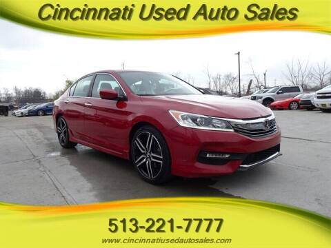 2017 Honda Accord for sale at Cincinnati Used Auto Sales in Cincinnati OH