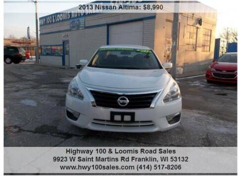 2013 Nissan Altima for sale at Highway 100 & Loomis Road Sales in Franklin WI