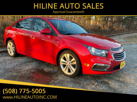 2016 Chevrolet Cruze Limited for sale at HILINE AUTO SALES in Hyannis MA
