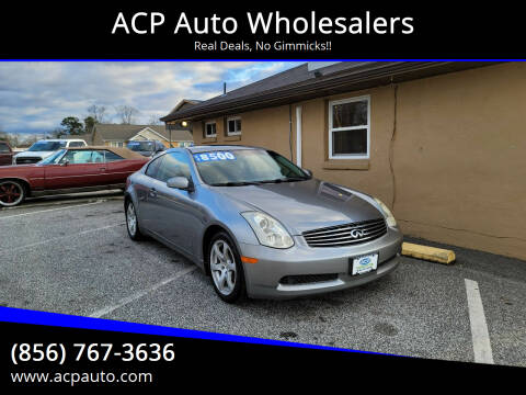 2007 Infiniti G35 for sale at ACP Auto Wholesalers in Berlin NJ