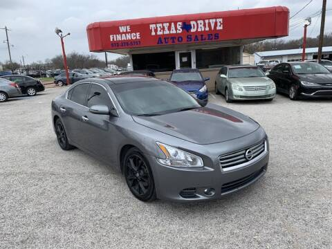 2014 Nissan Maxima for sale at Texas Drive LLC in Garland TX