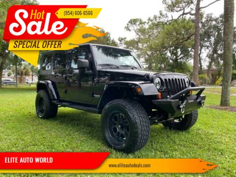 2010 Jeep Wrangler Unlimited for sale at ELITE AUTO WORLD in Fort Lauderdale FL