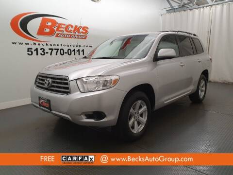 2009 Toyota Highlander for sale at Becks Auto Group in Mason OH