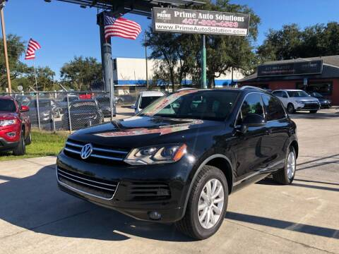2012 Volkswagen Touareg for sale at Prime Auto Solutions in Orlando FL
