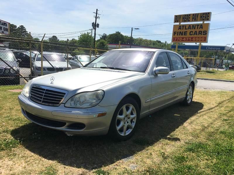 2004 Mercedes-Benz S-Class for sale at Atlanta Fine Cars in Jonesboro GA