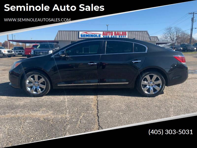 2010 Buick LaCrosse for sale at Seminole Auto Sales in Seminole OK