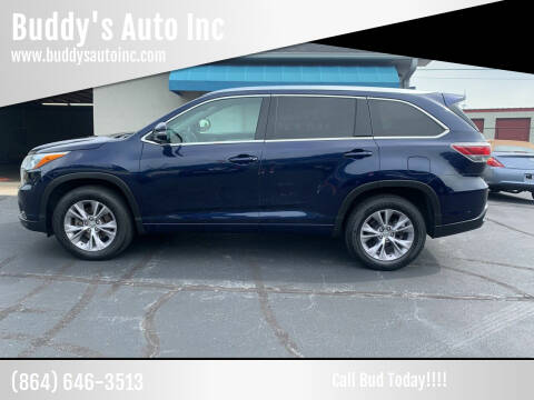 2015 Toyota Highlander for sale at Buddy's Auto Inc in Pendleton, SC