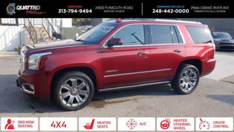 2016 GMC Yukon for sale at Quattro Motors 2 - 1 in Redford MI
