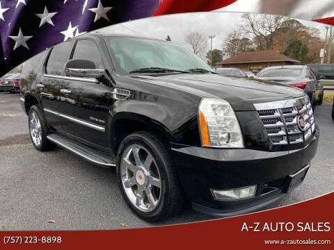 2011 Cadillac Escalade for sale at A-Z Auto Sales in Newport News VA