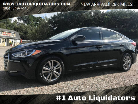 2018 Hyundai Elantra for sale at #1 Auto Liquidators in Yulee FL