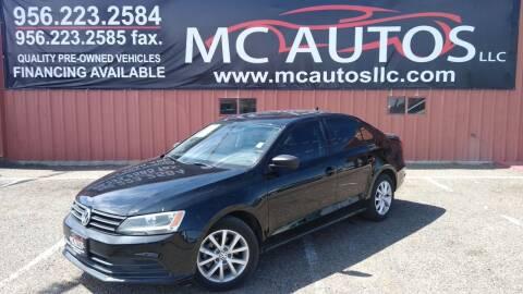 2015 Volkswagen Jetta for sale at MC Autos LLC in Pharr TX