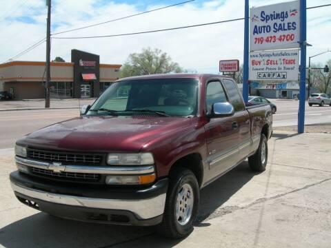 2001 Chevrolet Silverado 1500 for sale at Springs Auto Sales in Colorado Springs CO
