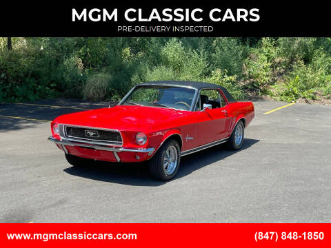 1968 Ford Mustang for sale at MGM CLASSIC CARS-New Arrivals in Addison IL