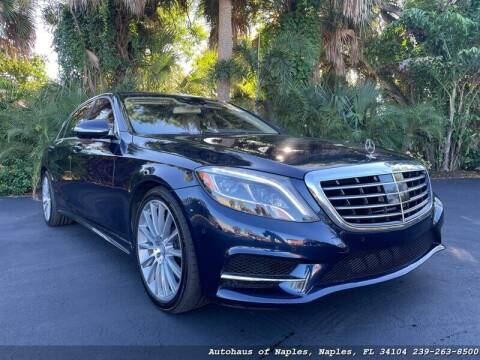 2015 Mercedes-Benz S-Class for sale at Autohaus of Naples in Naples FL