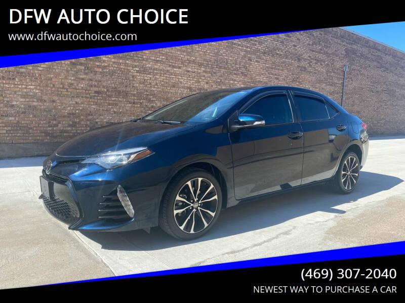 2017 Toyota Corolla for sale at DFW AUTO CHOICE in Dallas TX