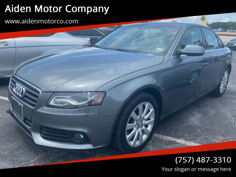 2012 Audi A4 for sale at Aiden Motor Company in Portsmouth VA