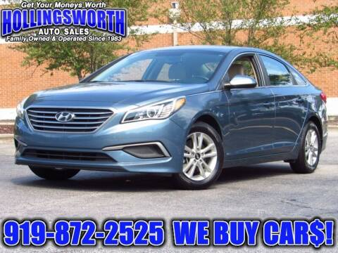 2017 Hyundai Sonata for sale at Hollingsworth Auto Sales in Raleigh NC