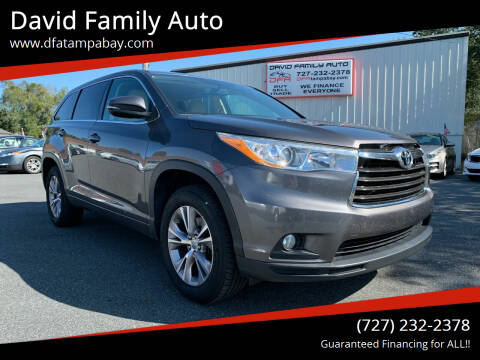 2014 Toyota Highlander for sale at David Family Auto in New Port Richey FL