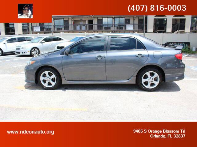 2011 Toyota Corolla for sale at Ride On Auto in Orlando FL