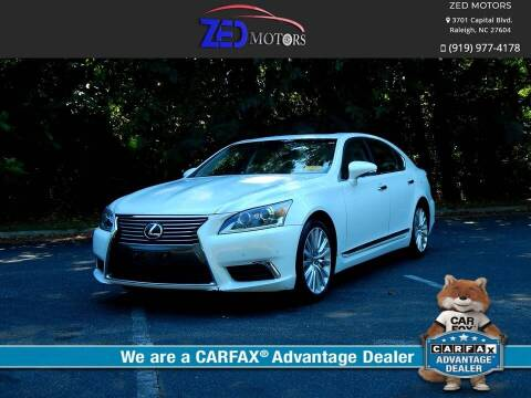 2013 Lexus LS 460 for sale at Zed Motors in Raleigh NC