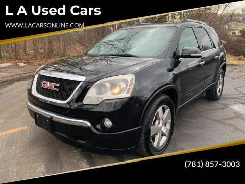 2010 GMC Acadia for sale at L A Used Cars in Abington MA