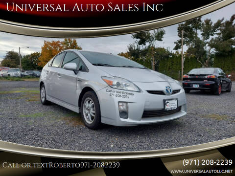 2011 Toyota Prius for sale at Universal Auto Sales Inc in Salem OR