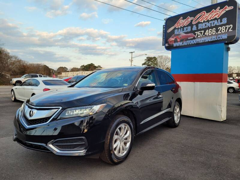2017 Acura RDX for sale at Auto Outlet Sales and Rentals in Norfolk VA
