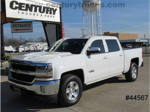 2018 Chevrolet Silverado 1500 for sale at CENTURY TRUCKS & VANS in Grand Prairie TX