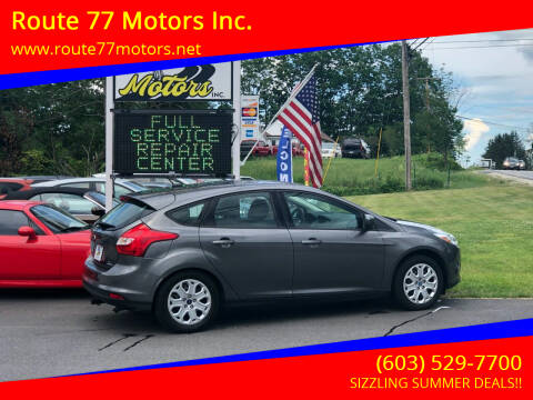 2012 Ford Focus for sale at Route 77 Motors Inc. in Weare NH
