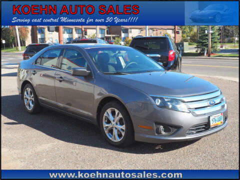 2012 Ford Fusion for sale at Koehn Auto Sales in Lindstrom MN