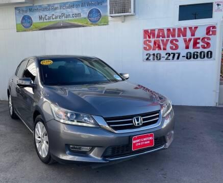 2013 Honda Accord for sale at Manny G Motors in San Antonio TX