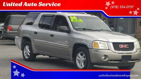 2004 GMC Envoy XUV for sale at United Auto Service in Leominster MA