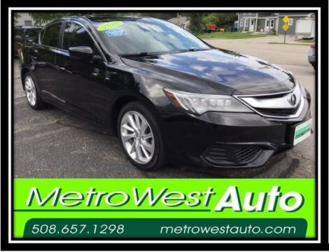 2016 Acura ILX for sale at Metro West Auto in Bellingham MA