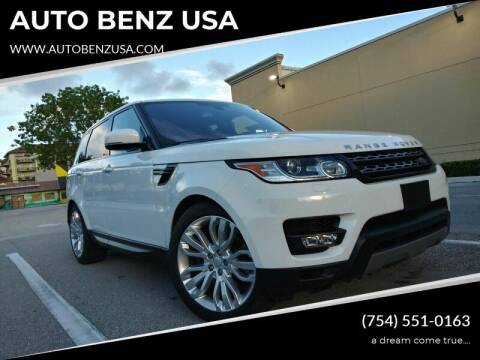 2016 Land Rover Range Rover Sport for sale at AUTO BENZ USA in Fort Lauderdale FL