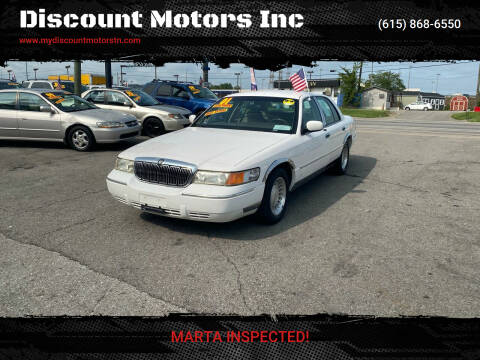 2001 Mercury Grand Marquis for sale at Discount Motors Inc in Madison TN