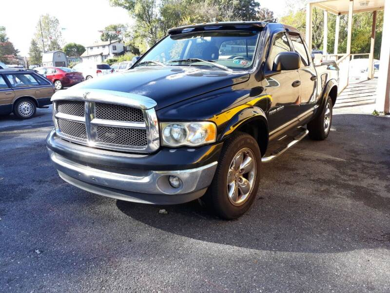 2002 Dodge Ram Pickup 1500 for sale at GALANTE AUTO SALES LLC in Aston PA