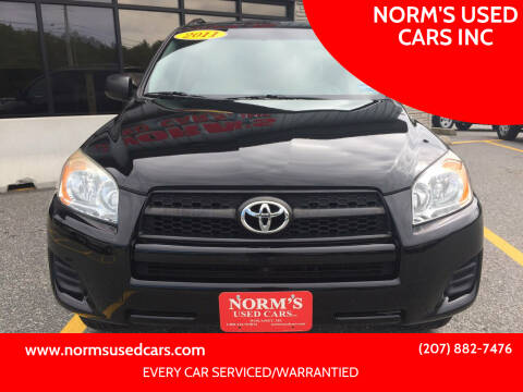 2011 Toyota RAV4 for sale at NORM'S USED CARS INC in Wiscasset ME