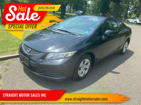 2013 Honda Civic for sale at STRAIGHT MOTOR SALES INC in Paterson NJ