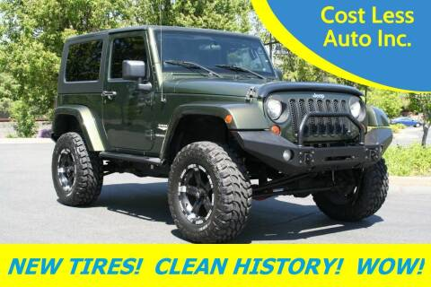 2007 Jeep Wrangler for sale at Cost Less Auto Inc. in Rocklin CA