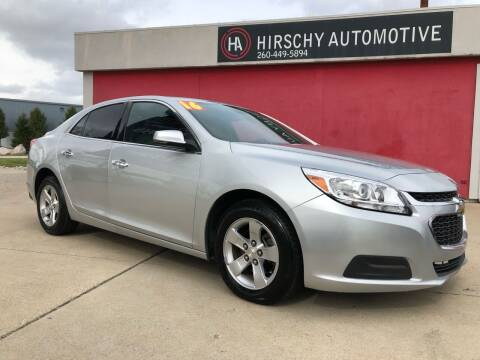 2016 Chevrolet Malibu Limited for sale at Hirschy Automotive in Fort Wayne IN