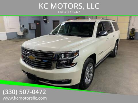 2015 Chevrolet Suburban for sale at KC MOTORS, LLC in Boardman OH