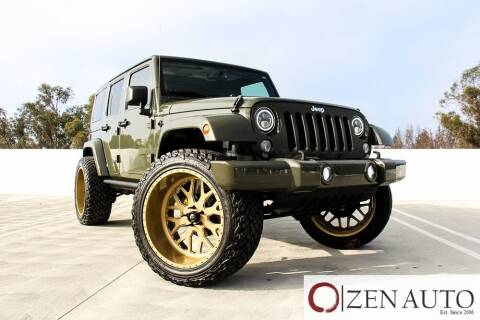 2015 Jeep Wrangler Unlimited for sale at Zen Auto Sales in Sacramento CA