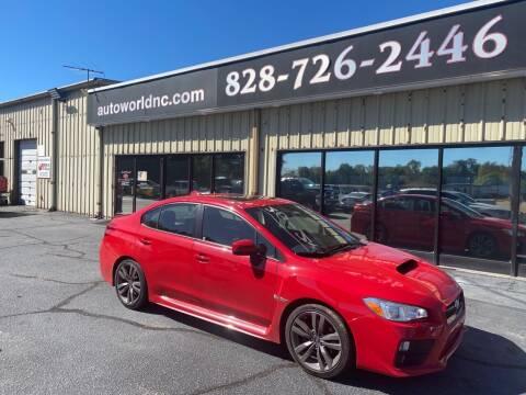 2016 Subaru WRX for sale at AutoWorld of Lenoir in Lenoir NC