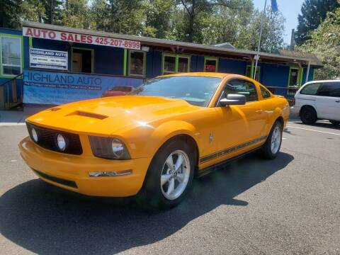 2007 Ford Mustang for sale at HIGHLAND AUTO in Renton WA