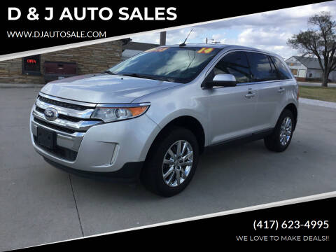 2014 Ford Edge for sale at D & J AUTO SALES in Joplin MO