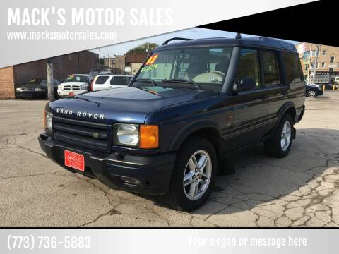 2002 Land Rover Discovery Series II for sale at MACK'S MOTOR SALES in Chicago IL
